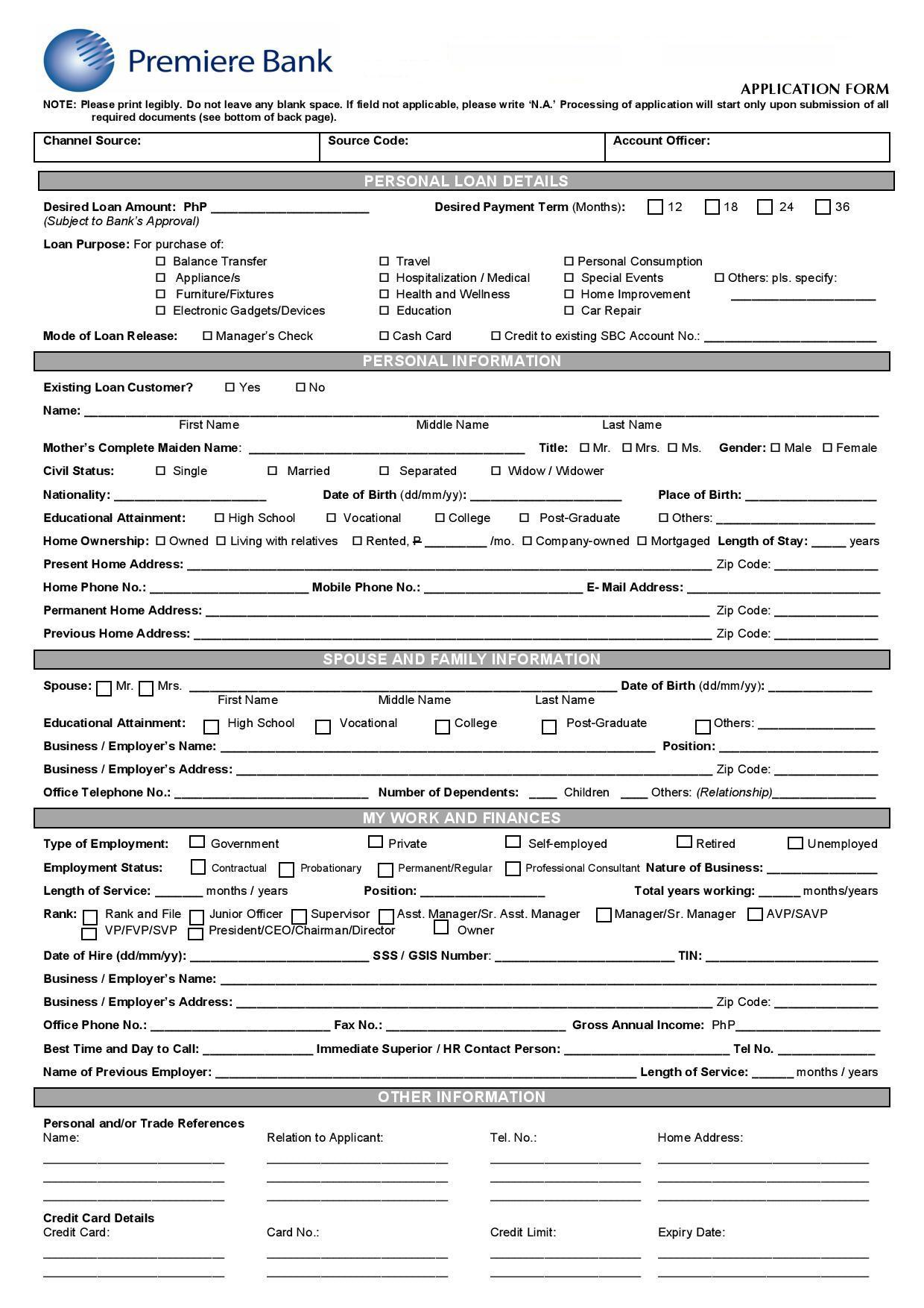 medicare bank account forms